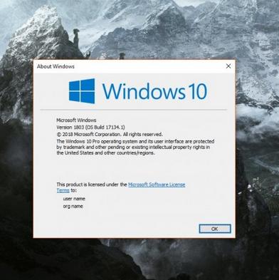 Windows 10 April 2018更新出现错误 或于明天推出补丁修复